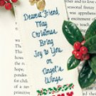Keepsake Bookmark kit christmas charm included JOY