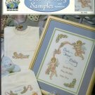 Cherub baby sampler true colors new cross stitch leaflet