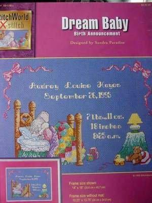 Dream Baby birth Annoucement cross stitch leaflet NEW