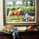 Cross Stitch Pattern horse LEADING PUMPKIN FROM THE GARDEN Sporting Masters