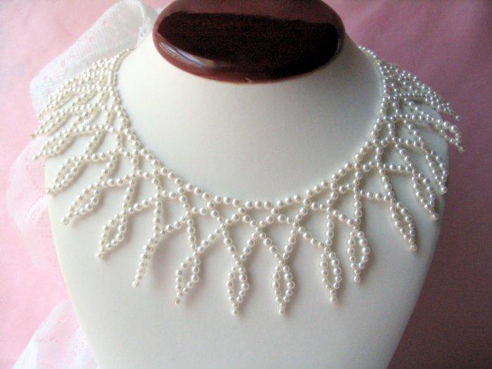 Vintage Estate Pearl Bib Collar Necklace
