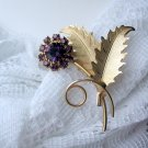 vintage jewelry purple rhinestone pin