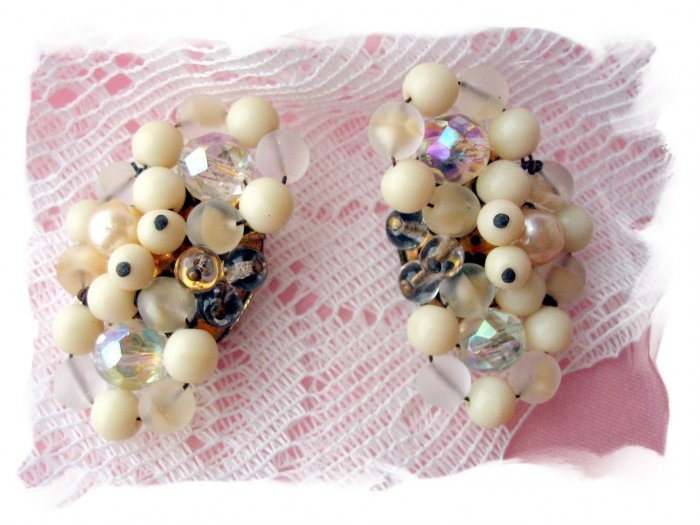 Vintage West Germany Glass beaded earrings
