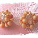 Hong Kong vintage beaded earrings