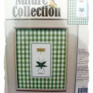 Dragonfly Duo cross stitch kit - mat and charm