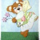 Flower Fairy - torn tear bear paper piecing scrapbooking