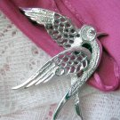 Signed Sarah Coventry Bird Pin - Peace