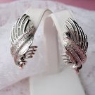Coro silvertone clip earrings vintage