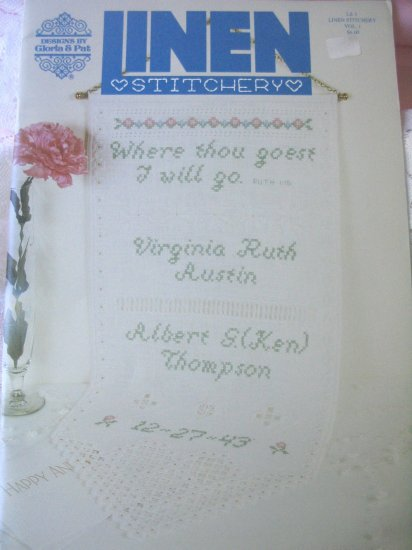 Linen Stitchery by Gloria & Pat Hardanger