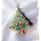 Christmas Tree Pin vintage