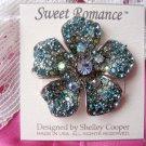 Sweet Romance Rhinestone Flower Pave Poppy Pin