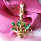 Gerry's Candle Christmas Pin Vintage