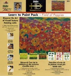 FolkArt One Stroke Learn-to-Paint Paint Field of Poppies Dewberry