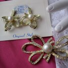 Vintage TARA Beau Knot 1965 Brooch and Earring Set