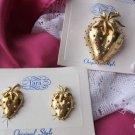 Vintage TARA Strawberry  Brooch and Earring Set