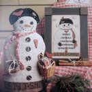 Cross Stitch chart - Let it Snow - Mr. Snowman II - Homespun Elegance