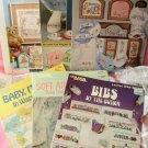 Lot of 6 Cross Stitch Baby Patterns Leaflets