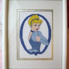 Disney Cinderella Finished Completed Cross Stitch Framed Picture