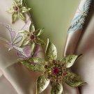 Fashion Flower Demi by Sarah Coventry Rhinestone Rare