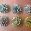 6 Handmade Paper Flowers for Scrapbooking Cardmaking