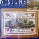 Joy and Peace cross stitch kit house poem new