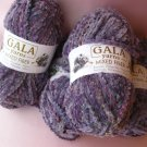 New 4 skeins by Gala - Purple Chenille Yarn