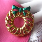 Vintage Christmas Wreath Pin