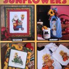 A Year of Sunflowers Leisure Arts Cross Stitch Rueger