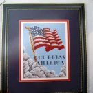 Old Glory Cross Stitch Leaflet Flag by Hedgepath