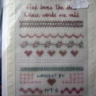 Cross Stitch Hardanger Pattern Sampler God Loves the Child