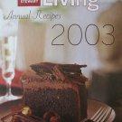 Martha Stewart Living Annual Recipes 2003 [Hardcover]