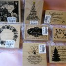 Huge lot of Christmas Rubber Stamps by Hampton Tree