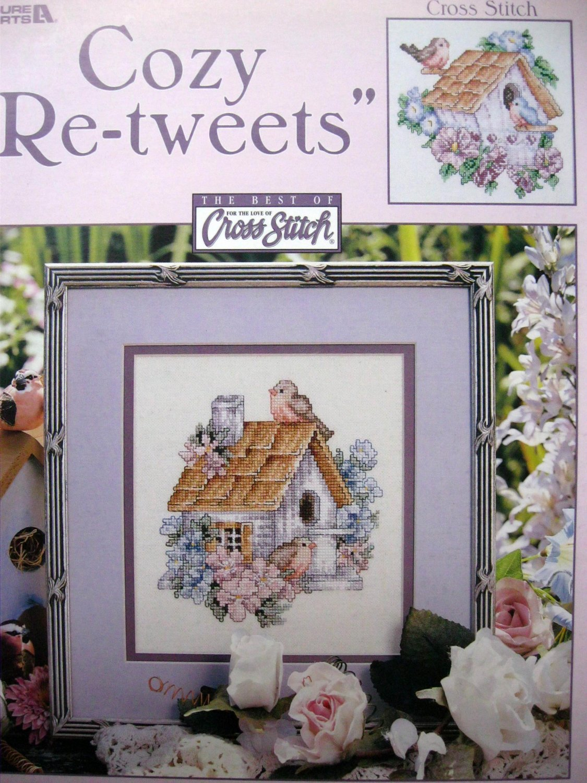 Cozy Re-Tweets Cross Stitch Bird Patterns Donna Giampa