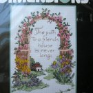 Dimensions The Path Cross Stitch Kit  Friend Flower