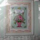 "Bucilla Cross Stitch Kit Flowers Bloom in Love 5"" x 7"""