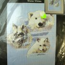 Winter Whites Polar Bear fox wolf Cross Stitch Kit NIP