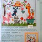 Happi Backyard Birth Record Cross Stitch Kit Happy Baby Dimensions