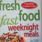 Cooking Light Fresh Food Fast andrea kirkland Cookbook