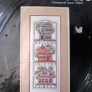 Victoriana Welcome STAMPED cross stitch Kit Dimensions