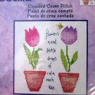 Flowers Need Rain Cross Stitch kit Bucilla Tulip
