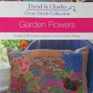 Garden Flowers Cross-Stitch pattern leaflet David & Charles Gordon