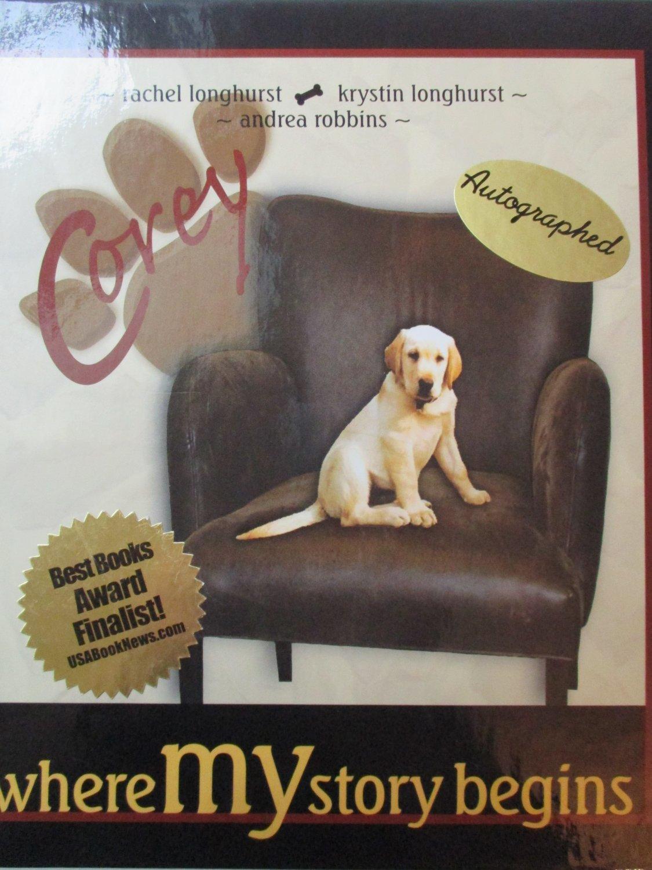 Where MY Story Begins Hardcover Author signed Longhurst Dog Michigan