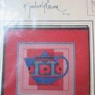 Kimberly Crum Patterns POPPY TEAPOT 2003 FREE SHIP cross stitch