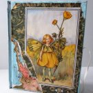 mixed media handmade gift FAIRY Cicely Barker Art FREE SHIP butterfly