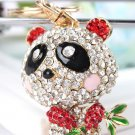 Bamboo Red Panda Keyring Cute Lovely Pendant Charm Crys