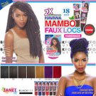 """2x Mambo Faux Locs 18"""" - Colour #TT530 (Two Tone Cherry Red)"""