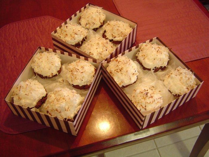 Choco Almond Coconut Cupcakes