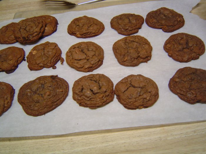 Double Chocolate & Peanut Butter Chip Cookies