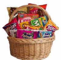 SNACK ATTACK GIFT BASKET - GREAT FOR COLLEGE KIDS!