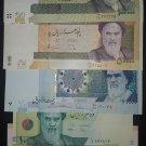 Iran 5 UNC banknotes set, Uncirculated Papermoney